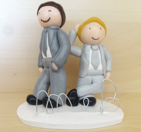 Cake topper mariage - Maxime & Boris