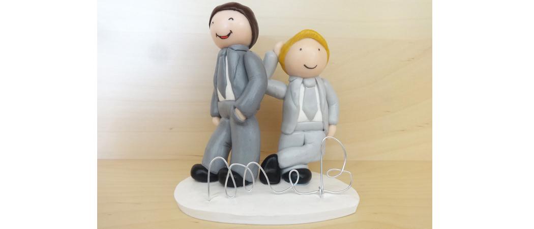 Cake topper mariage – Maxime & Boris