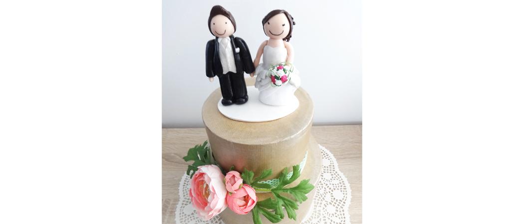 Cake topper mariage – Céline & Sylvain