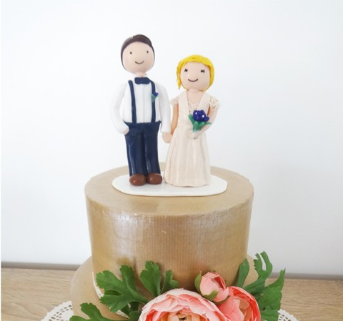 Cake topper mariage - Mathilde et Charles