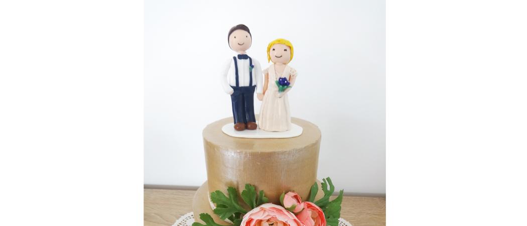 Cake topper mariage – Mathilde et Charles