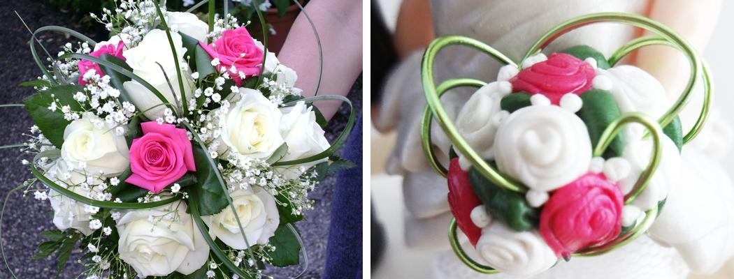 Bouquet de mariée en argile polymère by Fée Plaisir