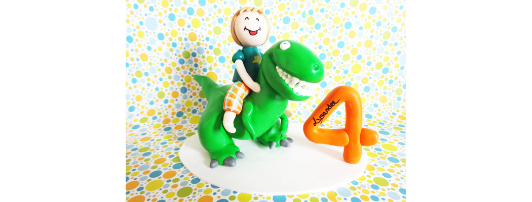 Figurine anniversaire – Dinosaure – 4 ans – Fée Plaisir
