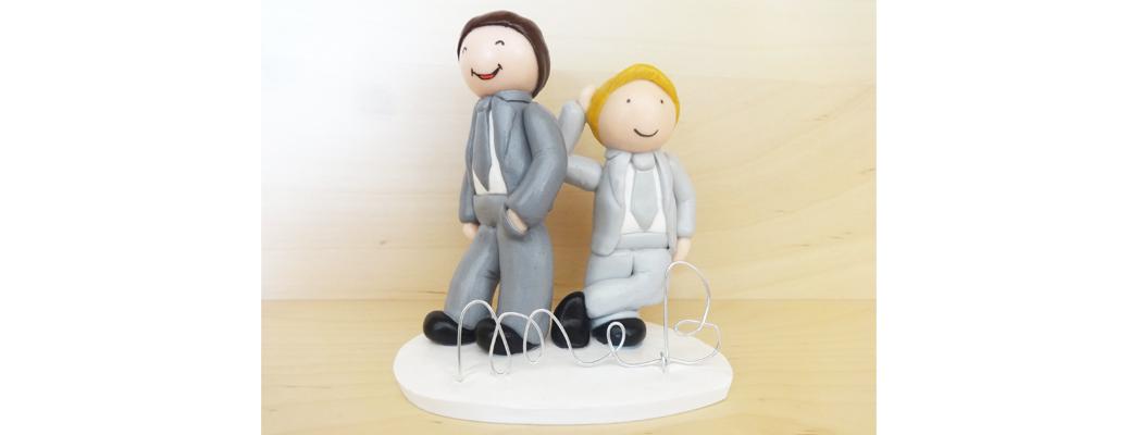 Figurine mariage Maxime & Boris – Mariage homosexuel – Fée Plaisir