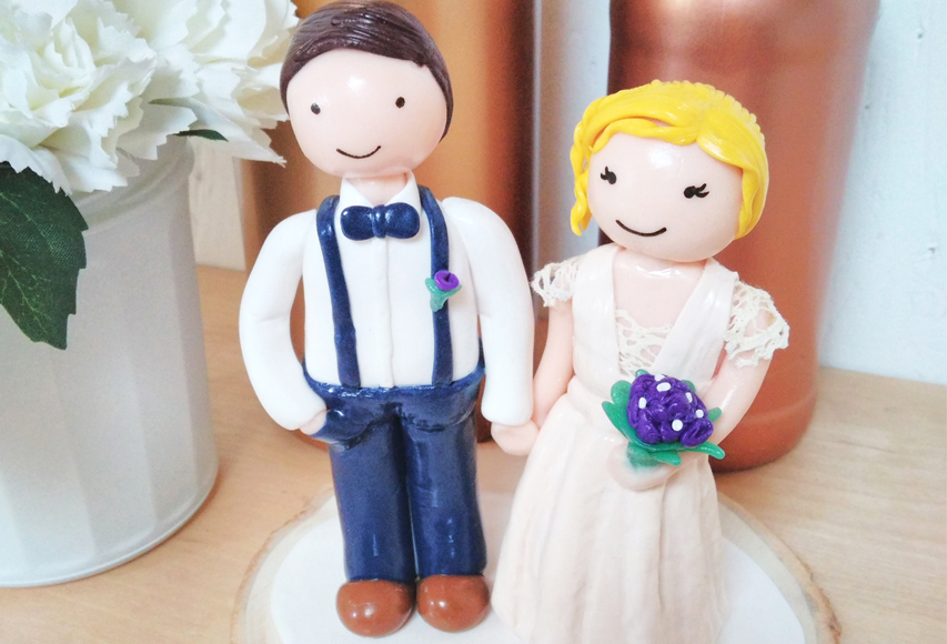 Charles & Mathilde – Cake topper mariage by Fée Plaisir