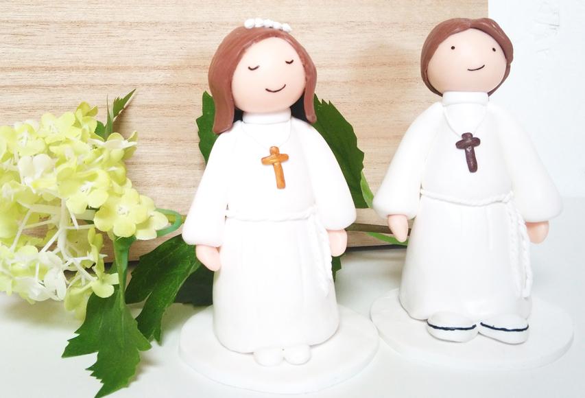 Figurines Communion – Cake topper personnalisé by Fée Plaisir